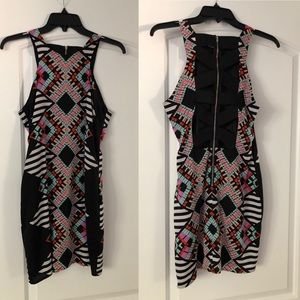 Bebe 2B Sexy Print Mini Dress Size M